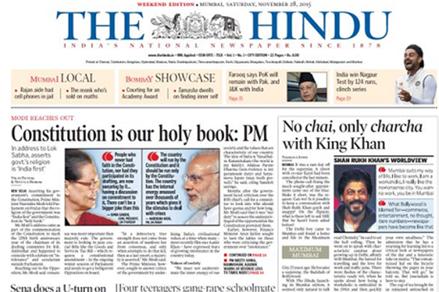 Image result for The Hindu) Newspapers