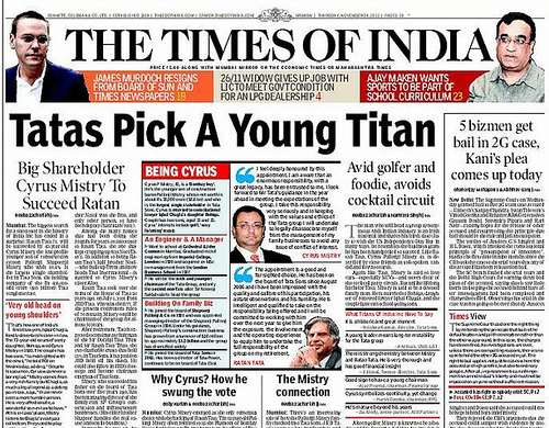 Image result for Times of India (TOI) Newspapers
